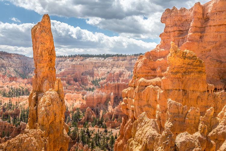 Hoodoos at the bryce canyon, utah