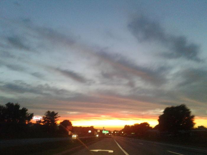 sunset HUAWEI