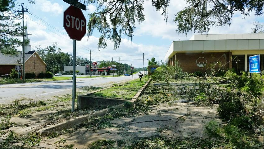• Hurricane Michael • Hurricane Michael 2018 Wind Flying Debris Weather Storm Leaves Hurricane Season  Hurricane Hurricane Damage Extreme Weather Building Storm Damage Nature Wind Damage Georgia Text Architecture Cloud - Sky Built Structure Stop Sign
