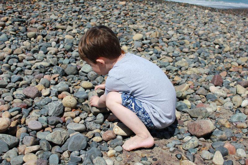 Beach Fun Beach Rocks Playing At The Beach Childhood Fun Summer Exploratorium Pebble Beach Childhood Full Length Child Boys Pebble Rock - Object Stone - Object Beach Ocean Shore