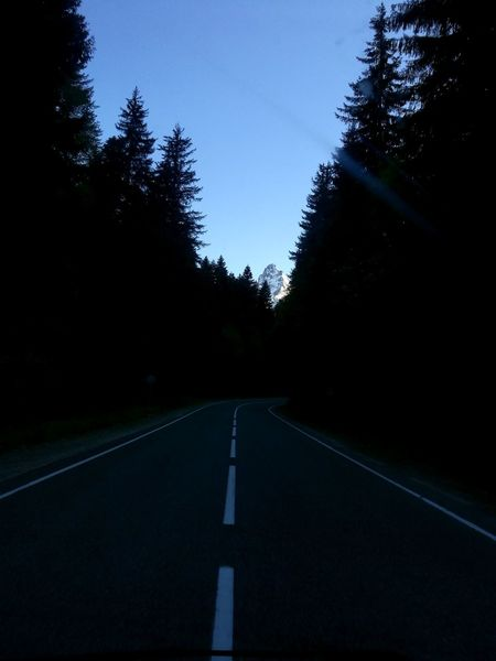 Road The Way Forward Tree No People Sky Night Nature Travel Destinations Mountain Karachaevo Circassia Landscape Russia