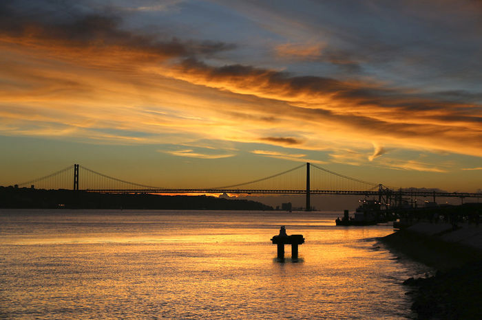 Architecture Bridge Bridge - Man Made Structure City Cloud - Sky No People Outdoors Scenics Sky Sunset Water