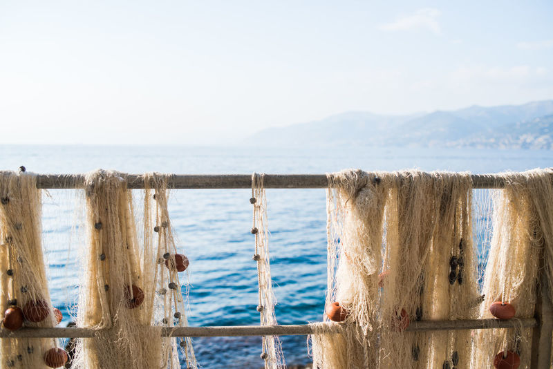 Fishing Net Mesh Pier Porto Pidocchio (Liguria) Railing Beauty In Nature Close-up Day Drying Fishing Net Fence Floats Focus On Foreground Horizon Over Water Knotted Rope Liguria Nature Outdoors Scenics Sea Sky Tranquility Water