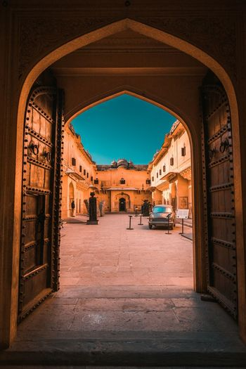 Nahargarh fort Gate Architecture Arch Built Structure The Way Forward Direction Transportation Day Mode Of Transportation No People Building Indoors  The Past Travel Old History City Nature Road Street Ornate
