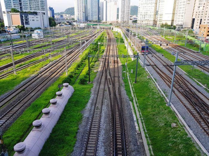 Qrazy No People Railroad Tracks Seoul_korea
