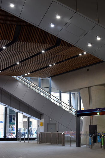 The spectacular London Bridge rail station Commuting London London Bridge Tickets Architectural Column Architecture Built Structure Business Business Finance And Industry Ceiling Day Empty Escalator Incidental People Indoors  Light Modern Platform Railway Recessed Light Train Station Transportation