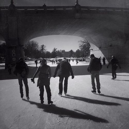 Sharing magical moments with friends Canal Rideau IPhoneography Group Of People Real People