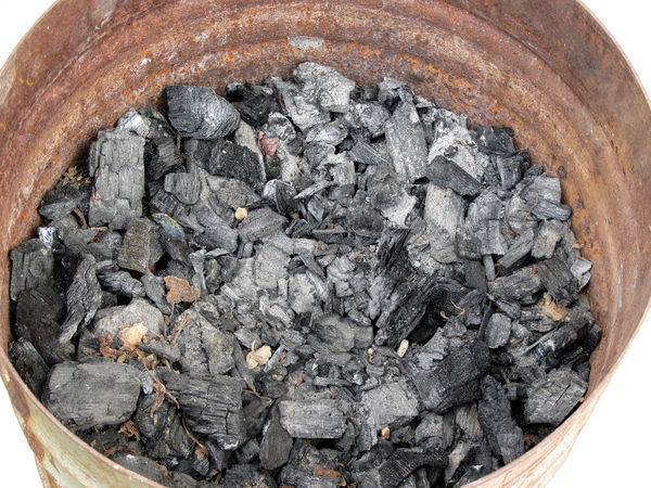 Pail of charcoal Anthracite Ash Barbecue BBQ Black Carbon Charcoal Coal Combustion Danger Dark Dirty Energy Fossil Fuel Material Mineral Pail Piece Power Raw Residue Resource  Structure Wood