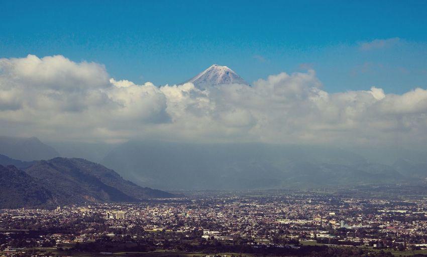 Pico de Orizaba. Outdoors Nature Landscape Colors Mountain Pico De Orizaba Orizaba Mexico Travel First Eyeem Photo Clouds And Sky Volcano City Cityscapes First Eyeem Photo PicodeOrizaba
