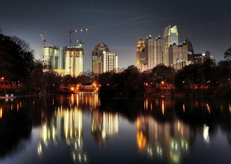Downtown Atlanta Cityscape Scene