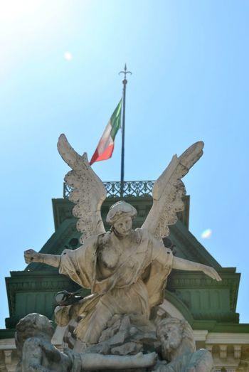 Trieste Piazza Unità Italia Italy Italianstreetphotography Angel Statue
