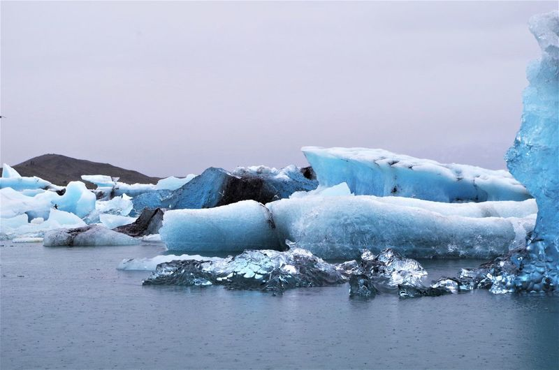 Magnificent Iceberg at Jökulsarlon Glacier Lagoon in southern iceland. Beauty In Nature Cold Temperature Day Floating On Water Frozen Glacial Glacier Ice Iceberg Landscape Melting Nature No People Outdoors Scenics Sky Snow Tranquil Scene Tranquility Water Winter