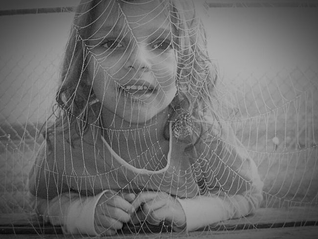 My Daughter ❤️ Spider Web Spidergirl B&w Photography Kids Portrait Monochrome Telling Stories Differently Black And White My Favorite Photo my daughter loved spiderman at that age of 4 Capture The MomentNatures Diversities The Portraitist - 2016 EyeEm Awards Family Fine Art Photography Monochrome Photography Break The Mold
