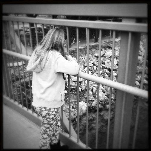 Bridge Bridge - Man Made Structure Childhood Enjoyment Girls Innocence Outdoors River