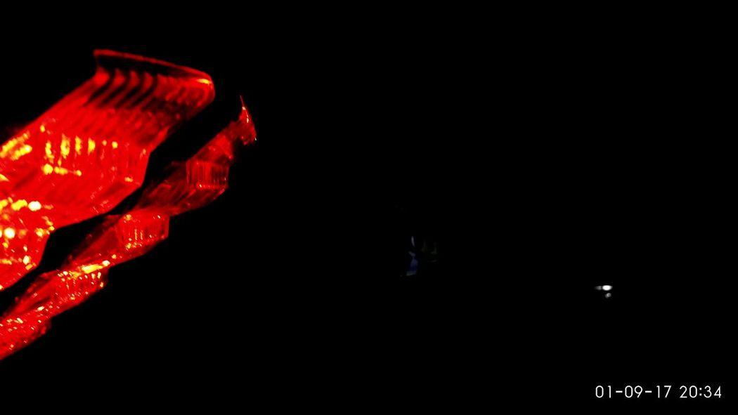 BIKE TAIL LOVE AT NI8 Night Bike Red Pulsar EyeEmNewHere EyeEm Ready