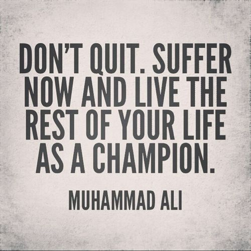 Don't give up! Let your struggle strengthen you!