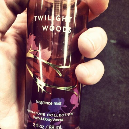Day 6: Favorite Perfume // I wear a lot of different scents, but this is my fav. Twilightwoods Bodyspray Bathandbodyworks