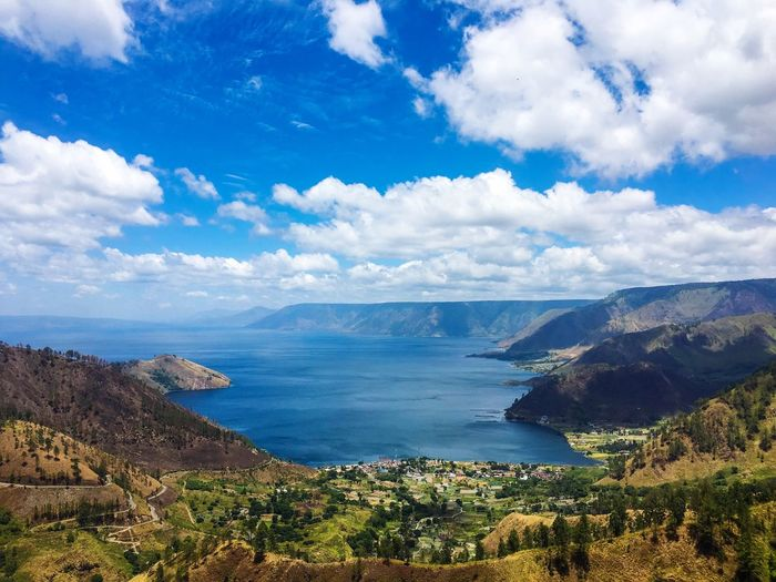 Lake of toba EyeEm Best Shots EyeEmNewHere EyeEm Selects EyeEm Gallery Eye4photography  EyeEmBestPics Lake Cloud - Sky Water Sky Sea Beauty In Nature Scenics - Nature Nature Beach Mountain Blue Tranquil Scene Land Tree Tranquility Outdoors High Angle View No People Day Bay Plant