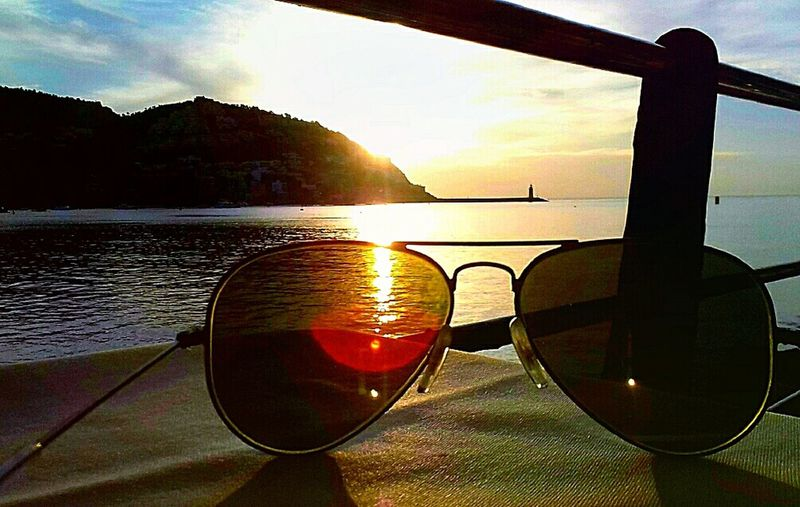 Sunglasses Sunset Water Eyeglasses  Sunlight Sea Sky Nature Beach Outdoors Day Eyewear Eyesight