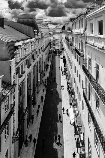 Lisbon Lisbon - Portugal Miradouro P&B Preto E Branco Rúa Do Carmo Lisbon Portugal Santa Justa Elevator Street