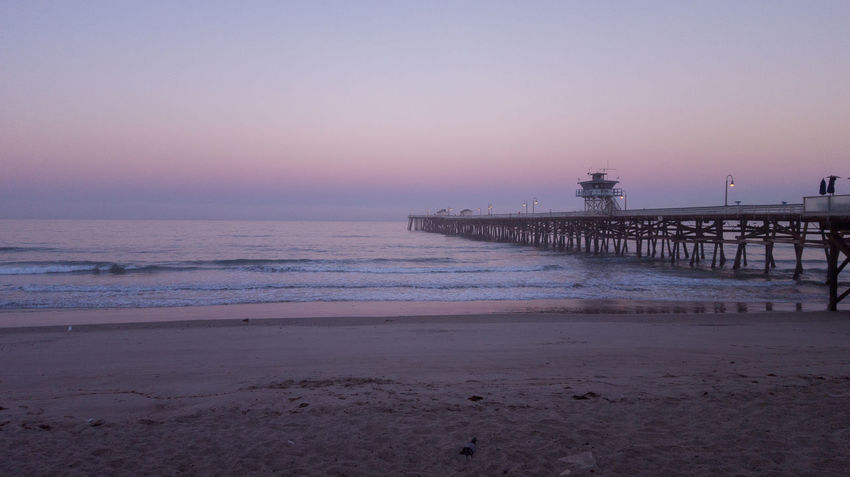 Morning Pier Architecture Beach Beauty In Nature Built Structure Dusk Horizon Over Water Nature Night No People Outdoors Sand Scenics Sea Silhouette Sky Sunrise Sunset Tranquil Scene Tranquility Water