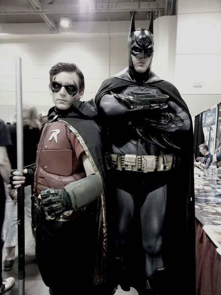 Met the Dark Knight and Robin this weekend. The Gotham Filter seemed appropriate, yes? ;) EyeEm Best Shots Comic Books