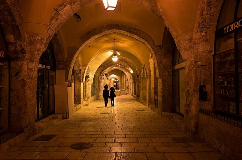 Jerusalem, 2017 Indoors  Travel Destinations People Men Architecture City Ricohgr2 Street Streetphotography Real People Candid Urban Street Photography Only Men Two People Israel Jerusalem Cardo Jewish Quarter Adventures In The City