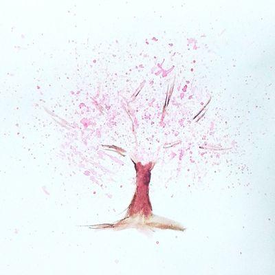 Sakura Watercolor Relaxing
