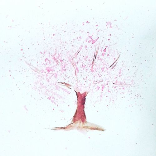 Sakura Watercolor Relaxing