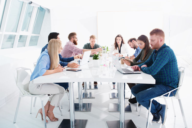 Group of people on table