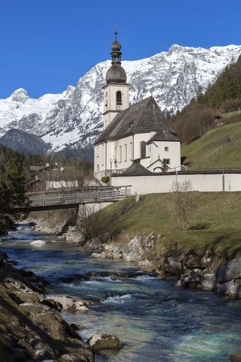 Mountain Water Architecture Built Structure Building Religion Nature Cold Temperature Place Of Worship Building Exterior Sky Belief Spirituality Snow Day Winter No People Outdoors Snowcapped Mountain Mountain Peak Ramsau  Ramsaubeiberchtesgaden