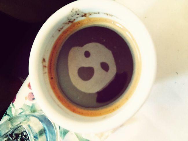 Caffee Scary Face Enjoying Life Relaxing