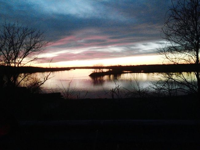 Took this one few months ago when the sunset was so beautiful ! Beautiful Trees Water Beautiful Nature Lake Fishing Spot Rocks And Water Darkness And Light Dark Photography Dark Portrait Beautiful Darkness Beautiful Darkening Peaceful Moment