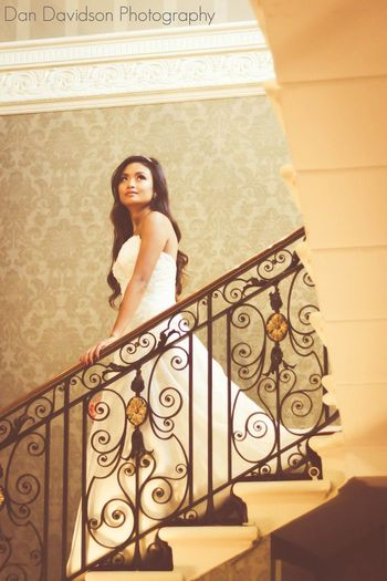 Bride On The Stairs Bride Brides Wedding Photography Hedsor House Wedding Dress Bridal Photoshoot Buckinghamshire Wedding Photographer Dan Davidson Photography