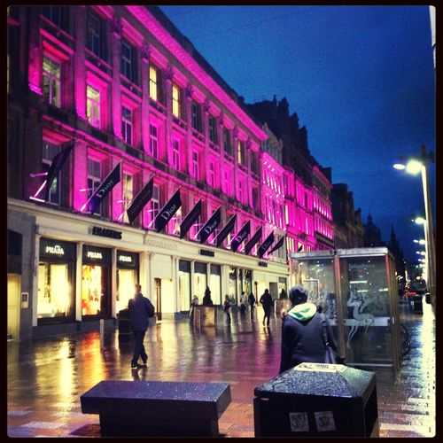 Pretty Pink Facades Downtown Glasgow. There Will Always Be A Point Where Girls Just Like Pink.💓 Wanderlust RandomShots GLASGOW CITY