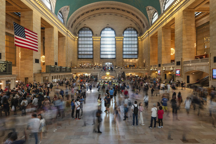 Interior of the Grand Central Station, New York City, United States Large Group Of People Mode Of Transportation York Work Window USA Urban United Travel Transportation Train Traditional Tourist Tourism Ticket Terminal Subway Station States Schedule Rush Retro Railway People NYC New York New Movement Motion Metro Manhattan Landmark Interior Inside Infrastructure Grand Flag Fast Destinations Crowd Clock Classic City Central Busy Building Beautiful Architecture American America