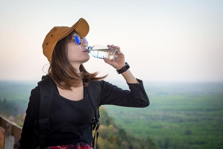 Female drinking
