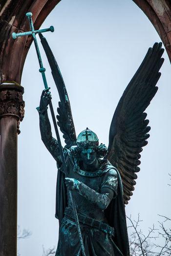 Archangel Archangel Michael Architecture Babelsberger Park Erzengel Michael Outdoors Potsdam Snow Statue Winter