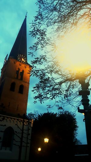 Good evening my beautiful Baarn 😍 Baarn Sky Church Architecture StPaul Lovemyvillage Living