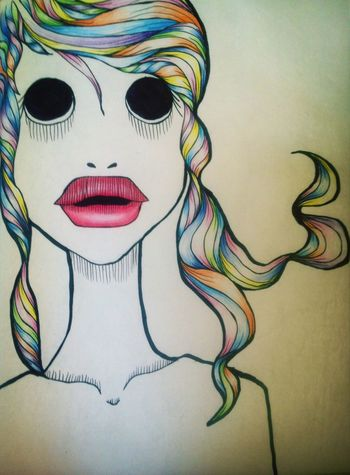 Now in colors Drawing Girl Colors Rainbowhair