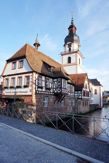 Historic town hall Historical Building Town Hall River Erbach Im Odenwald Perspectives Greenleaves City History Blue Sky Architecture Building Exterior Built Structure