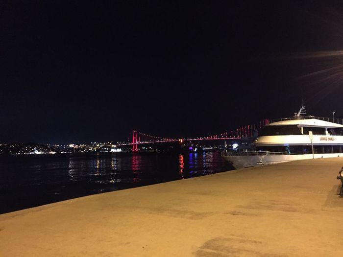 Bosphorus Bridge Istanbul WOW Night City Sea