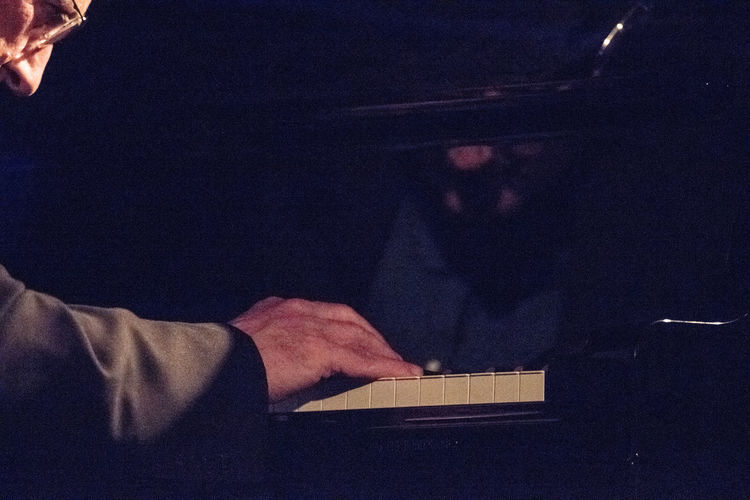 Jazz Concert Music Skill  Close Up Human Body Parts Human Hand Indoors  Musician Musicians Night Part Of Face Playing Playing Piano Reflections Senior Adult