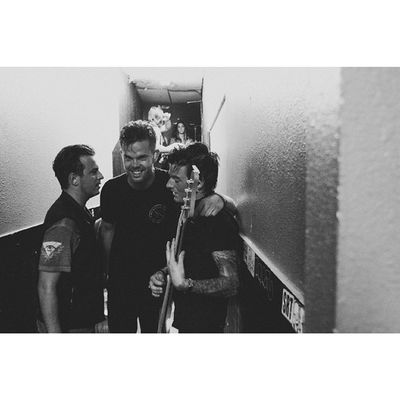 Going back to not too long ago, Backstage after a sold out show with ny buds from secretsofficial. aaronjmelzer looking all happy as he should with michael all tired. Lets have it tomorrow night! Be on the lookout kids! #secrets #backstage #secretsband #michael #epphotography #blackandwhite #otcpress #otclyfe #riserecords #aaronmelzer