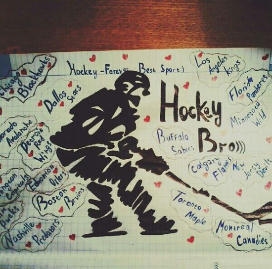 My Drawing Hockey:)<3 Enjoying Life