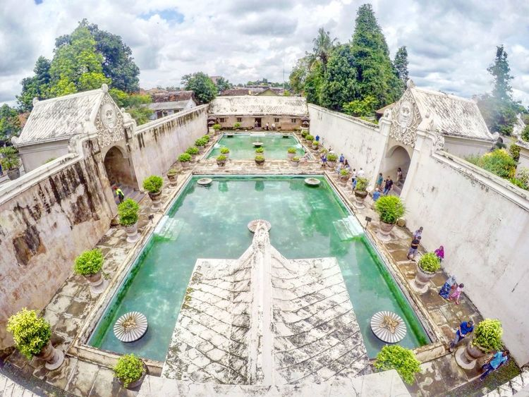 Architecture History Travel Destinations Sky Cloud - Sky Tree Water Swimming Pool Built Structure Outdoors Steps No People Day Tamansariyogyakarta Tamansaripalace Watercastle Tamansari Yogyakarta, Indonesia