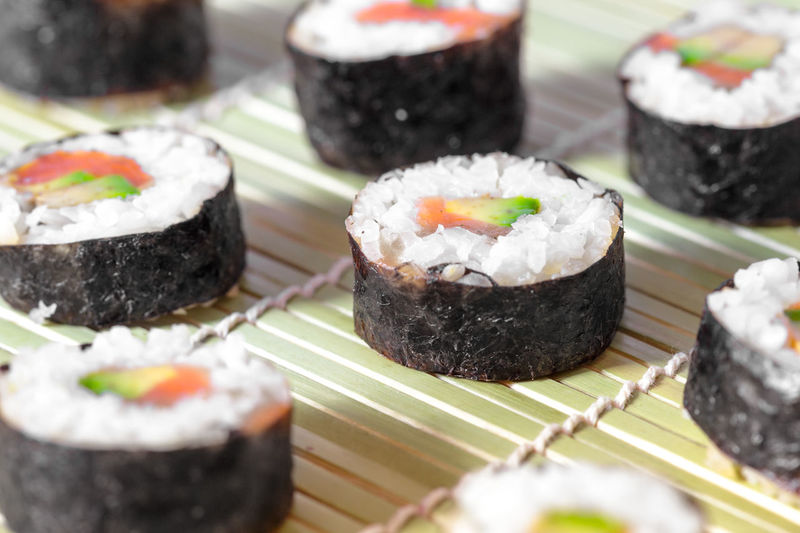 Close-Up Of Sushi Served On Plate