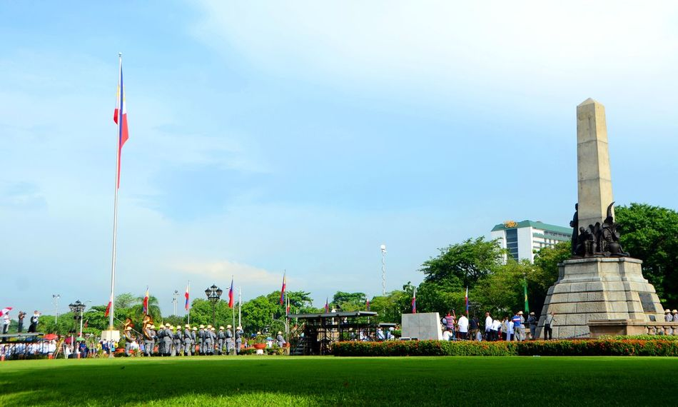 Blue Wave Flag Grass Luneta Rizal Rizal Park Sky Landmark Monument Nikon D5100  Eyeem Philippines EyeEm Philippines: Our Independence Day 2016