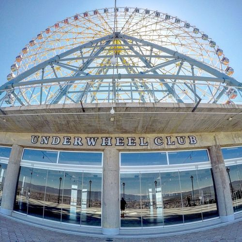 Amusement Park Architecture Architecture Arts Culture And Entertainment ASIA Beautiful Blue Built Structure Caucasus Communication Day Fisheye FishEyeEm Georgia Gopro Goprohero4 Mountain No People Outdoors Sky Spring Tbilisi Text Western Script Wheel
