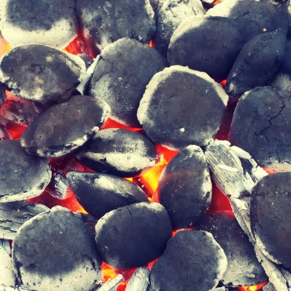 Full Frame Backgrounds Close-up No People Coal Hot Fire Burning Coals BBQ